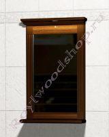 """Зеркало с подсветкой для ванной комнаты """"Челси-1 АЛЕКС-55 орех"""""""