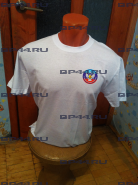 Футболка белая ЛНР