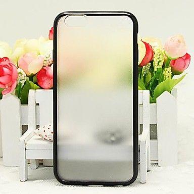Бампер с прозрачной крышкой для iphone 6 (черный)