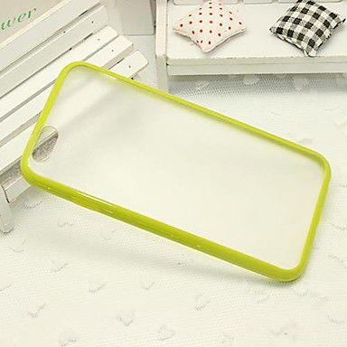 Бампер с прозрачной крышкой для iphone 6 (зеленый)