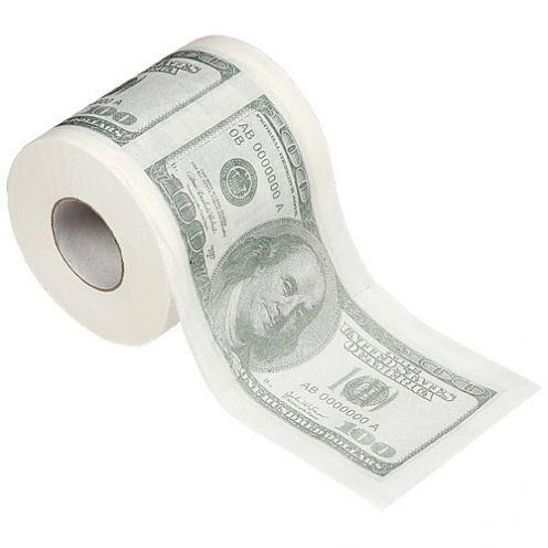 """Туалетная бумага """"100 баксов"""""""
