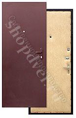 Металлические двери порошковый окрас+винилискожа