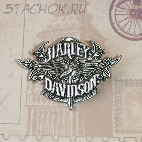 "Брошь ""Motor Cycles Harley-Davidson-2"" под олово"