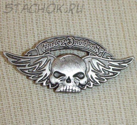 "Брошь ""Harley-Davidson Череп"" под олово"