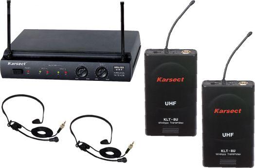 KARSECT KRU-302/KLT-8U/HT-2 Радиосистема 2 головных гарнитуры