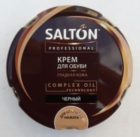 SALTON professional. Крем для обуви. Чёрный. Банка. 70 мл. /48/