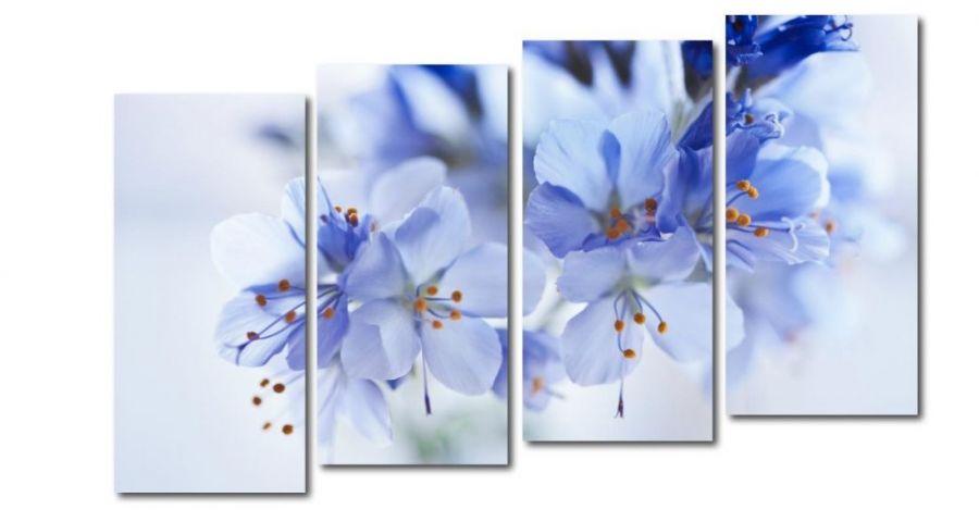 Модульная картина Голубое цветение