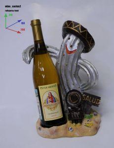 Подставка для вина «Кактус в шляпе»