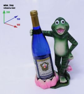 Подставка для вина «Лягушка обнимает бутылку»