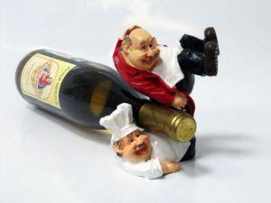 Подставка для вина «Повар и официант»