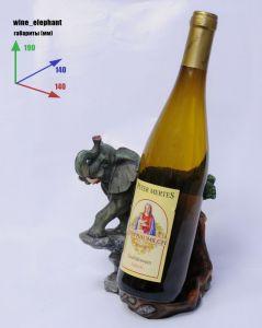 Подставка для вина «Слон и бутылка»