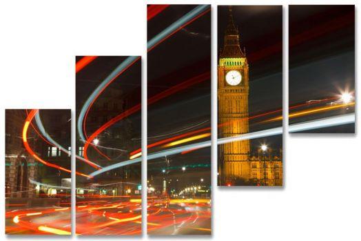 Модульная картина Ночной Лондон