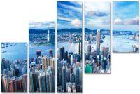 Модульная картина Город под небом