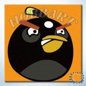 """Картина по номерам """"Angry Birds. Черный в гневе"""""""
