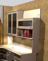 Надстройка для письменного стола с двустворчатым шкафом из массива