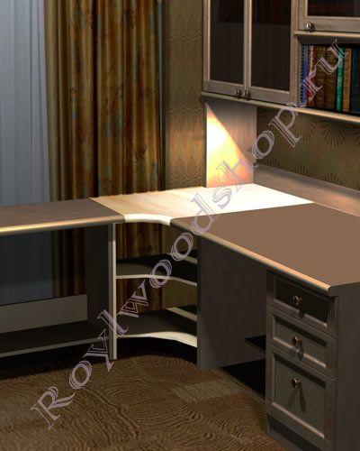 угловой стол модуль из массива березы предлагаем по ценам