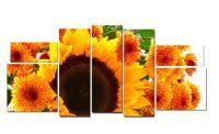 Модульная картина Подсолнухи под солнцем