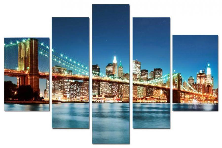 Модульная картина Подвесной мост