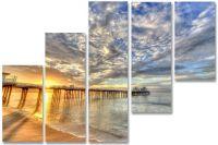 Модульная картина Мост в море