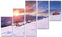 Модульная картина Зима в горах