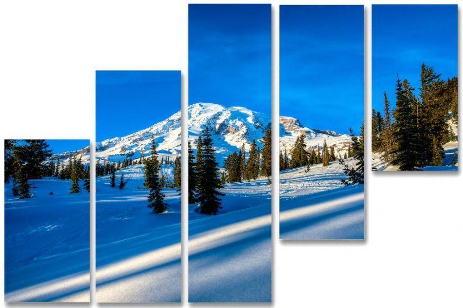 Модульная картина Снежная возвышенность