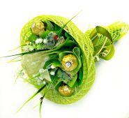 """Букет конфет из Ферреро Роше №332 """"Магия зелени"""""""