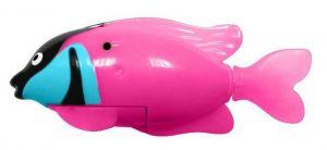 Роборыбка-попугай светящаяся (розовая)
