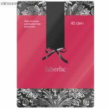 Эластичные шелковистые колготки, цвет чёрный, 40 den