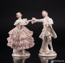Танцующая пара, кружевная, Ackermann & Fritze, Германия, 1908-51 гг