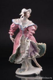Девушка в розовом платье, Karl Ens, Германия, 1920-30 гг