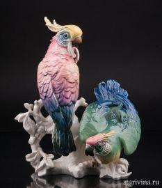 Два попугая какаду, Karl Ens, Германия, 1920-30 гг., артикул 10757