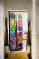 Наклейка на дверь - Акварель | магазин Интерьерные наклейки