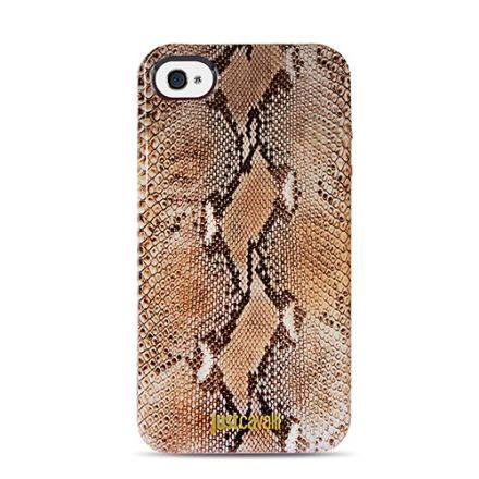 Чехол-накладка для iPhone 5/5S Just Cavalli serpente (orange)