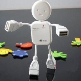 Высокоскоростной USB-разветвитель в виде человечка, 4 порта