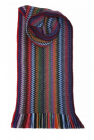 модный вязаный шотландский  шарф Zig Zag Tropic Зигзаг Тропик, плотность 7