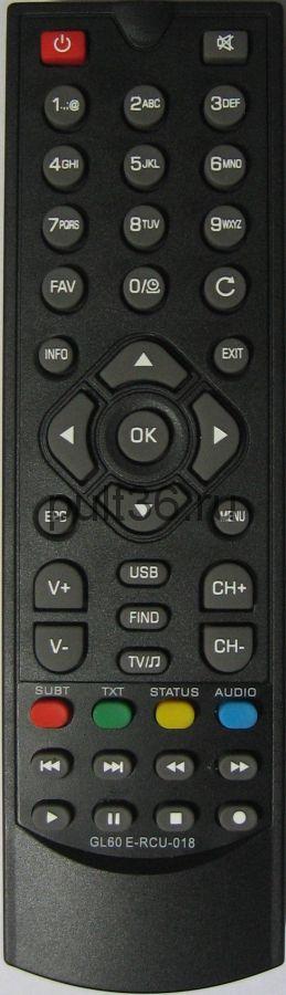 Пульт для Globo DVB-T2 GL60, E-RCU-018