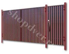 Ворота из профнастила №3