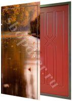 Дверь стальная с нанесением  фото