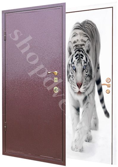 Металлические двери  с нанесением  фото