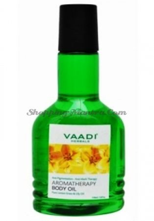 Ароматическое масло для тела Лимонная трава&Лилия Ваади | Vaadi Aromatherapy Lemon Grass&Lily Oil
