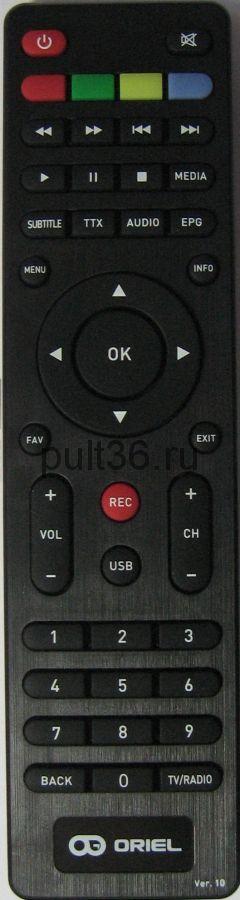 Пульт для Oriel DVB-T2 ПДУ-10 HD