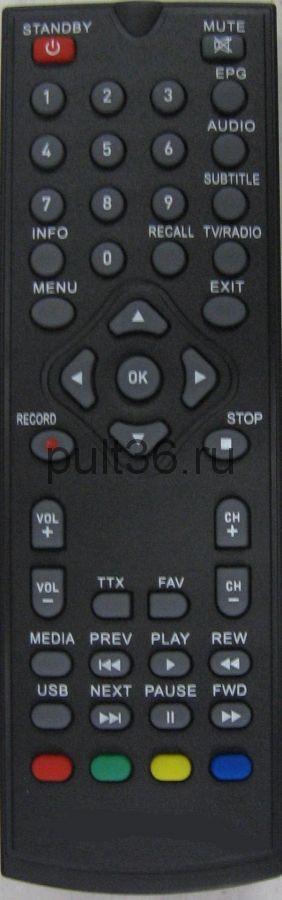 Пульт для TESLER DVB-T2