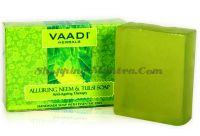 Антивозрастное мыло для лица и тела Ним&Тулси Ваади (Vaadi Alluring Neem and Tulsi Soap)