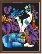 """Раскраска по номерам """"Этническая: Любимый цветок бабочки"""""""