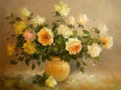 Раскраска по номерам "Чайная роза"