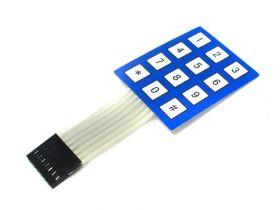 Кнопочная мембрана 4х3 малого размера