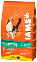 IAMS Adult Hairball Control для кошек выведение шерсти