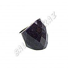 Кольцо с огранённым авантюрином КО-093