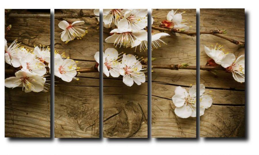 Модульная картина Дерево. Цветы