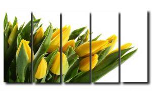 Модульная картина Цветы. Желтые тюльпаны